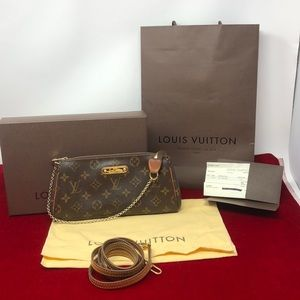 AUTHETIC Louis Vuitton Monogram Canvas Eva Clutch